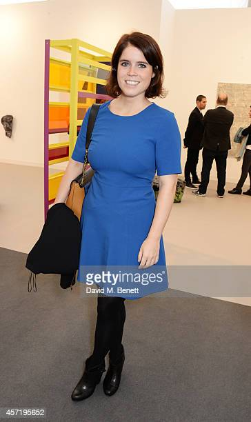 Princess Eugenie of York attends VIP Preview of the Frieze Art Fair 2014 in Regent's Park on October 14 2014 in London England