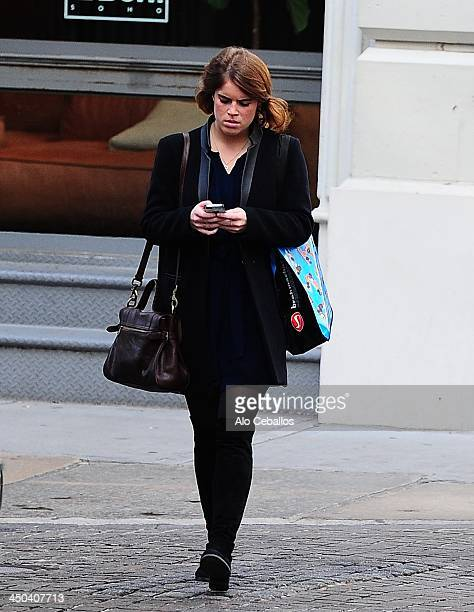 Princess Eugenie of York is seen in SoHo on November 18 2013 in New York City