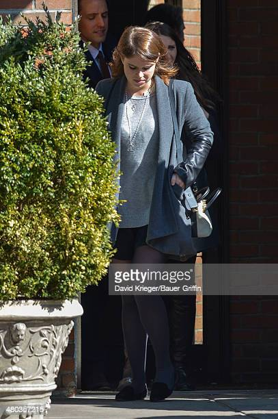 Princess Eugenie of York is seen on March 24 2014 in New York City