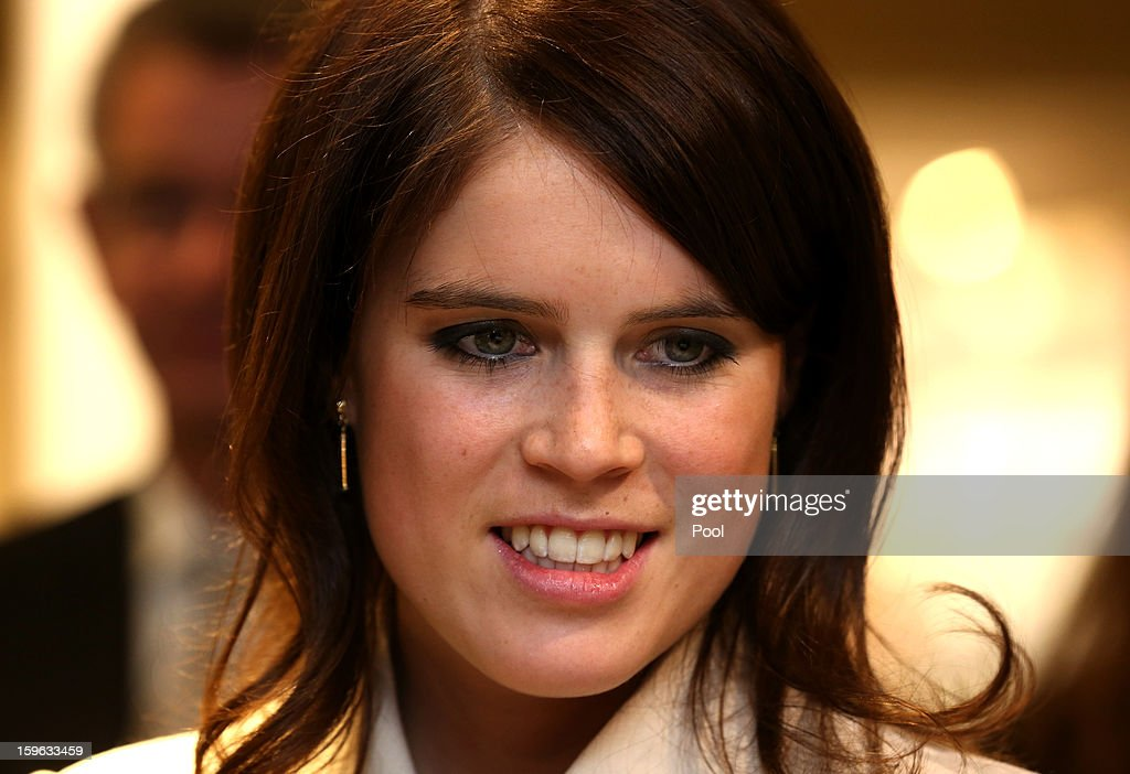 Princess Eugenie of York visits the KaDeWe department store on January 17, 2013 in Berlin, Germany. The royal sisters are in Berlin to support the government's GREAT initiative promoting the UK abroad. They will visit Hanover tommorow as part of this two day trip funded by their father the Duke of York