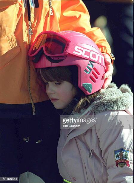 Princess Eugenie On Skiing Holiday In Verbier Switzerland Being Hugged By Her Mother The Duchess Of York