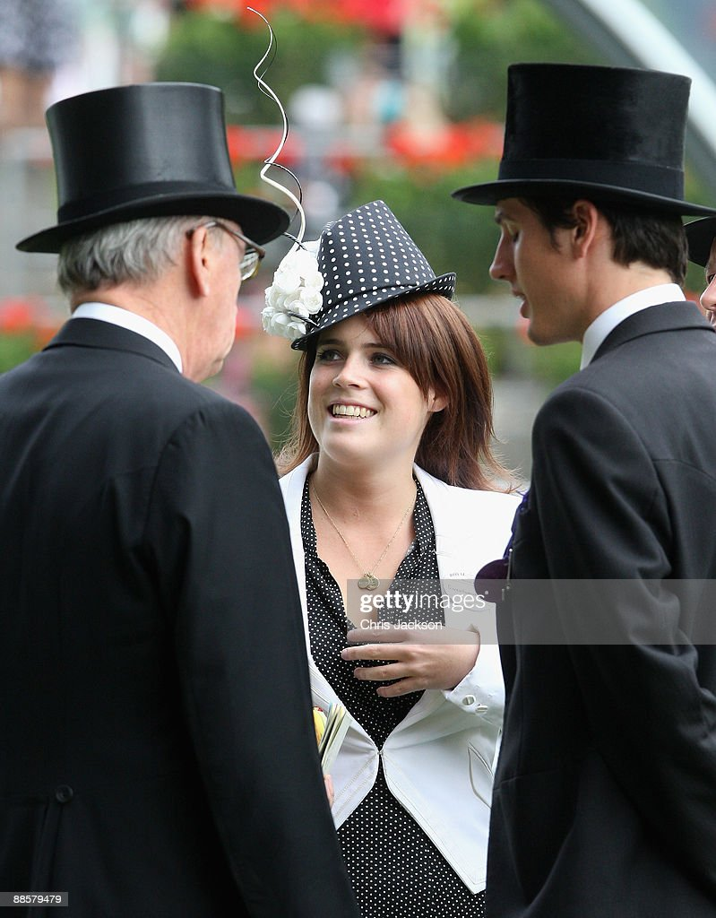 Princess Eugenie talks to Jake Warren in the parade ring on the fourth day of Royal Ascot 2009 at Ascot Racecourse on June 19, 2009 in Ascot, England.