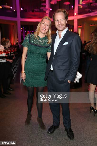 Princess Felipa von Bayern and her husband Christian Dienst during the PIN Party 'Let's party 4 art' at Pinakothek der Moderne on November 18 2017 in...