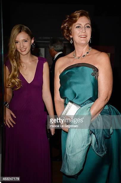 Princess Francesca von Habsburg and Archduchess Eleonore von Habsburg arrive at the 'Cartier Le Style et L'Histoire' Exhibition Private Opening at Le...