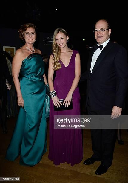 Princess Francesca von Habsburg Archduchess Eleonore von Habsburg and Prince Albert II of Monaco arrive at the 'Cartier Le Style et L'Histoire'...