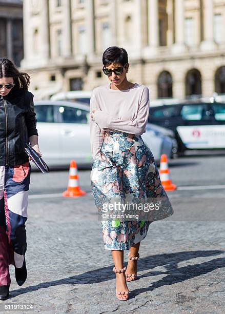 Princess from South Arabia Deena Aljuhani Abdulaziz outside Elie Saab on October 1 2016 in Paris France