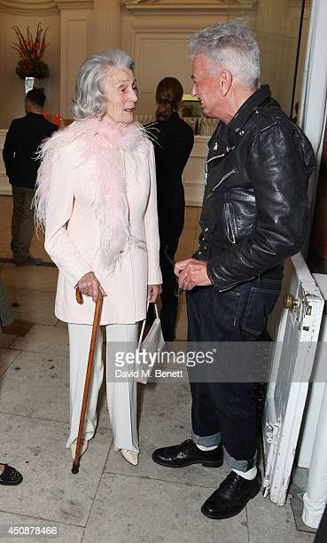 Princess George Galitzine and Nicky Haslam attend the drinks reception hosted by Dockers the San Francisco based apparel brand at Kensington Palace...