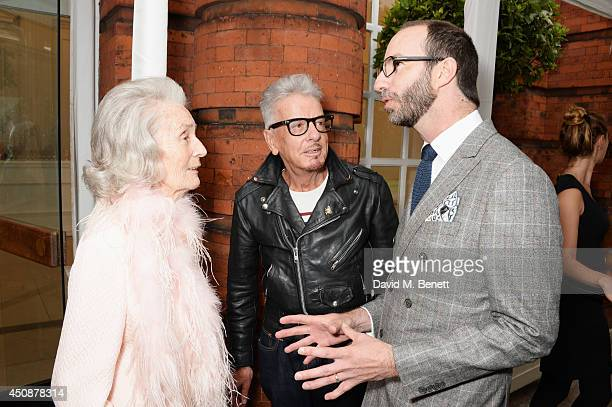 Princess George Galitzine Nicky Haslam and Austin MuttiMewse attend the drinks reception hosted by Dockers the San Francisco based apparel brand at...