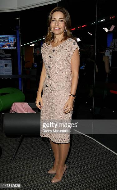 Princess Ghida Talal of Jordan attends the launch of 'CNBC Meets Sir Richard Branson' at CNBC Studios on July 3 2012 in London England