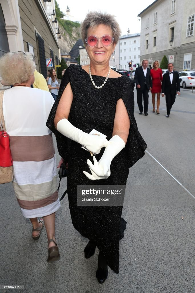 Princess Gloria von Thurn and Taxis during the premiere of the opera 'Lady Macbeth von Mzensk' during the opera festival (Salzburger Opernfestspiele) on August 2, 2017 in Salzburg, Austria.