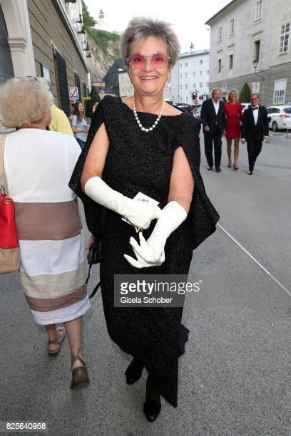 Princess Gloria von Thurn and Taxis during the premiere of the opera 'Lady Macbeth von Mzensk' during the opera festival on August 2 2017 in Salzburg...