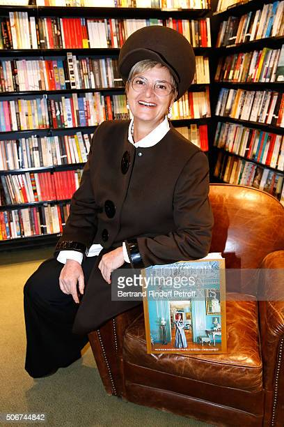 Princess Gloria Von Thurn und Taxis signs her Book 'The House of Thurn und Taxis' Held at Librairie Galignani on January 25 2016 in Paris France