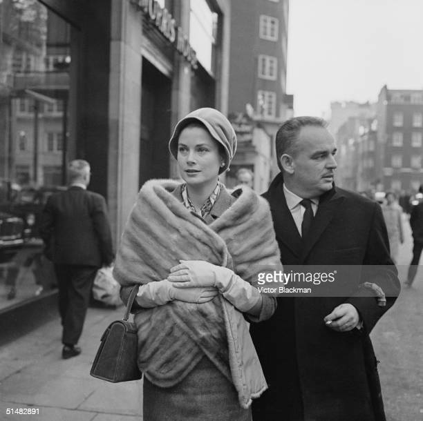 Princess Grace and Prince Rainier of Monaco shopping in London's West End 4th December 1959