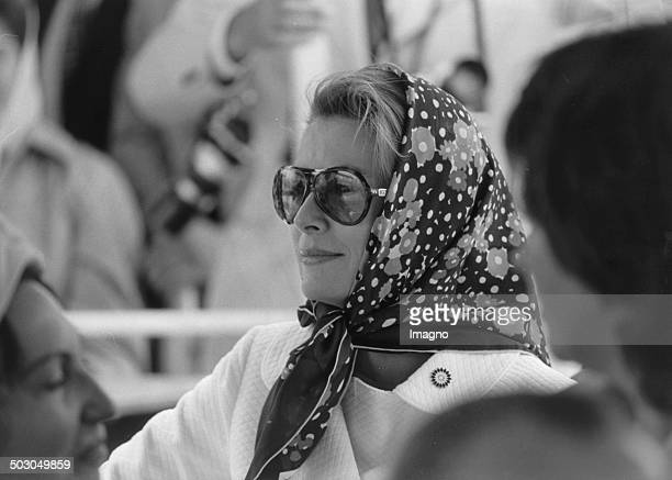 Princess Grace of Monaco at the opening of Rose special show on the WIG 74 the Vienna International Garden Exhibition 1974 in Oberlaa 5th July 1974...