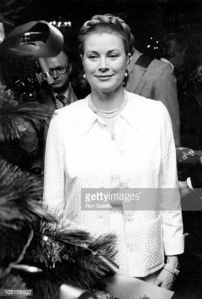 Princess Grace of Monaco during Christmas Party Benefiting Trinity Missions at Waldorf Starlight Roof in New York City New York United States