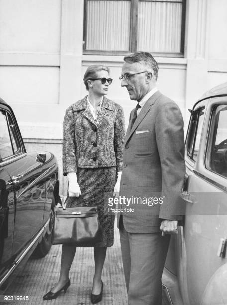 Princess Grace of Monaco with Philadelphia surgeon James Lehman outside the Cecil Clinic in Lausanne 2nd April 1959 The princess who is at the clinic...