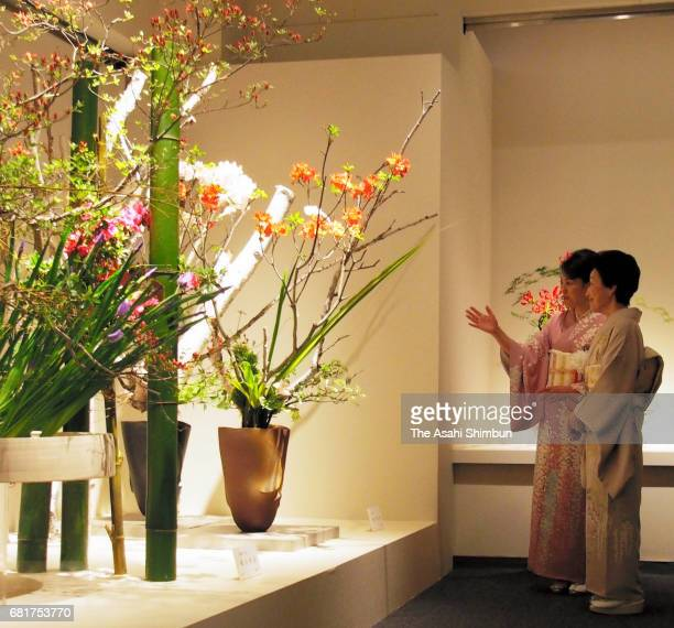 Princess Hanako of Hitachi attends the 50th Anniversary Ceremony Of Japan Flower Arrangement Association Foundation on May 9 2017 in Tokyo Japan