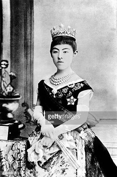 Princess HaruKo called empress Shoken wife of japanese emperor MutsuHito called Meiji