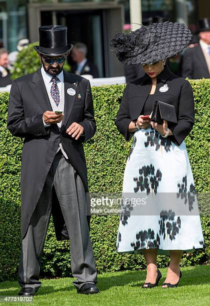 Princess Haya Bint Al Hussein and Sheikh Mohammed Bin Rashid Al Maktoum on day 1 of Royal Ascot at Ascot Racecourse on June 16 2015 in Ascot England