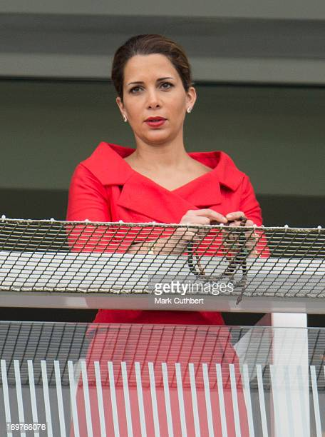 Princess Haya Bint Al Hussein at The Investec Derby Festival at Epsom Racecourse on June 1 2013 in Epsom England