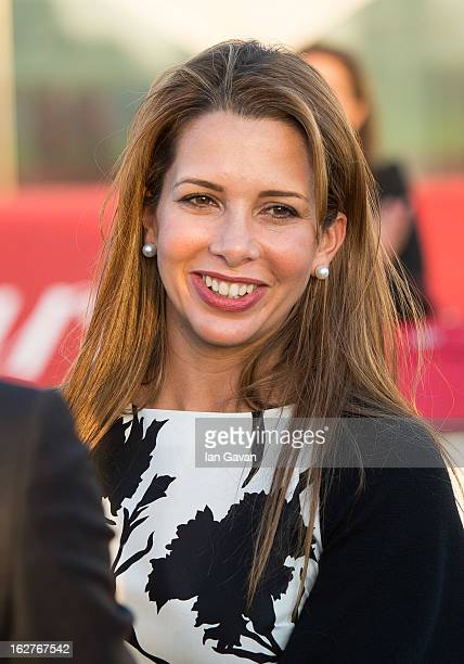 Princess Haya Bint Al Hussein attend the final day at the Cartier International Dubai Polo Challenge at the Desert Palm Hotel on February 22 2013 in...