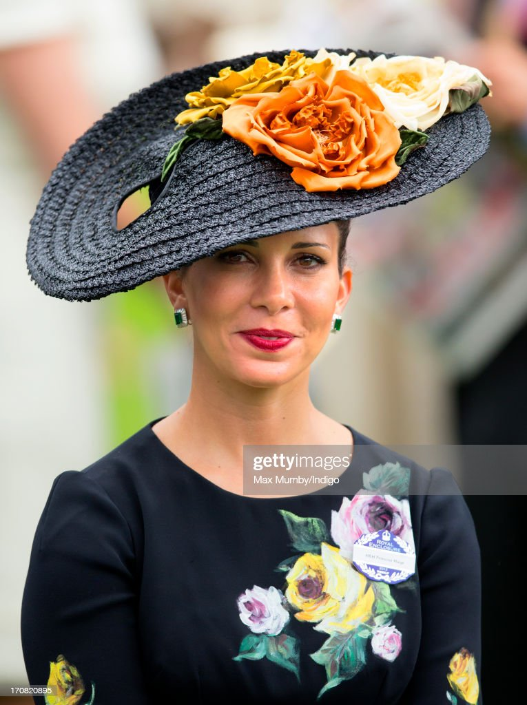 <a gi-track='captionPersonalityLinkClicked' href=/galleries/search?phrase=Princess+Haya&family=editorial&specificpeople=658825 ng-click='$event.stopPropagation()'>Princess Haya</a> Bint Al Hussein attends Day 1 of Royal Ascot at Ascot Racecourse on June 18, 2013 in Ascot, England.