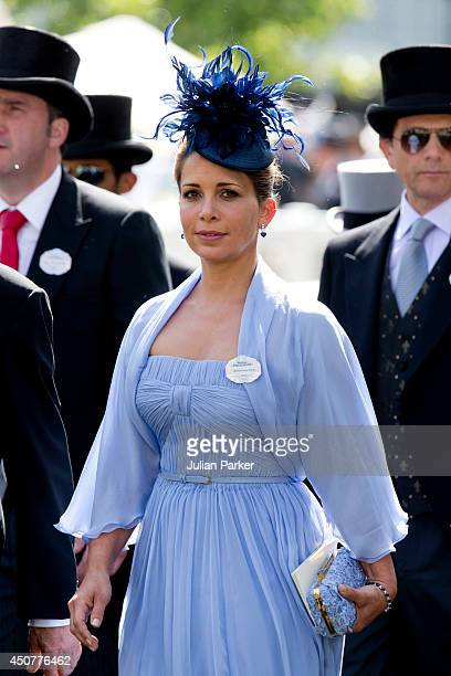 Princess Haya bint Al Hussein attends Day 1 of Royal Ascot at Ascot Racecourse on June 17 2014 in Ascot England