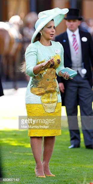 Princess Haya bint Al Hussein attends Day 2 of Royal Ascot at Ascot Racecourse on June 18 2014 in Ascot England