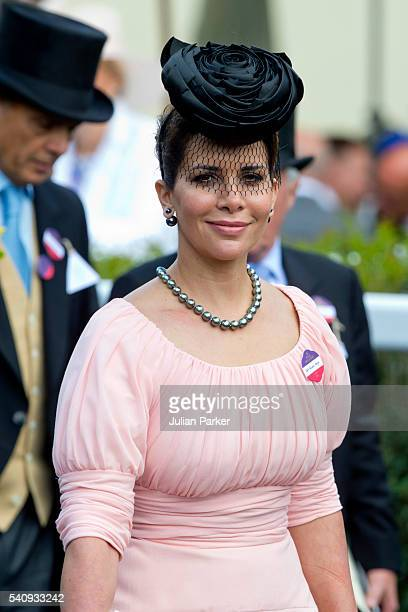 Princess Haya bint Al Hussein attends day 4 of Royal Ascot at Ascot Racecourse on June 17 2016 in Ascot England