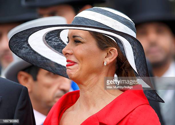 Princess Haya Bint Al Hussein attends Derby Day of the Investec Derby Festival at Epsom Racecourse on June 1 2013 in Epsom England