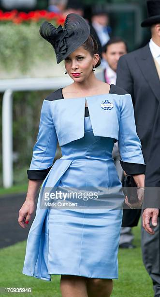 Princess Haya Bint Al Hussein attends Ladies Day on Day 3 of Royal Ascot at Ascot Racecourse on June 20 2013 in Ascot England