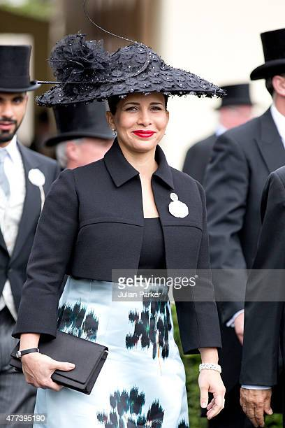 Princess Haya bint Al Hussein attends the first day of The Royal Ascot race meeting on June 16th 2015 in Ascot England