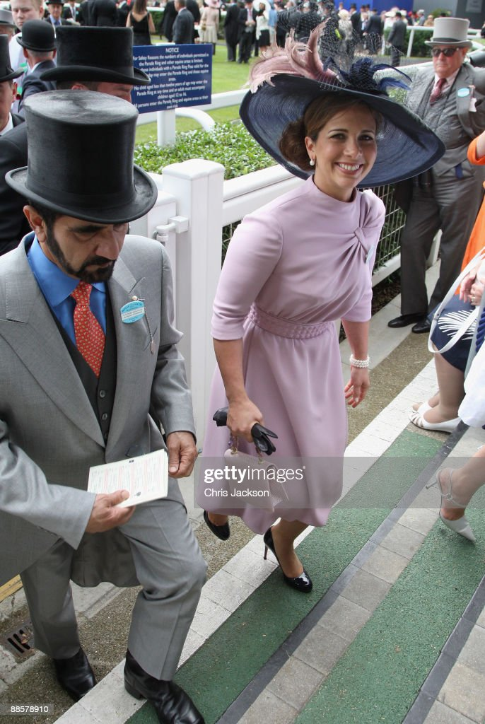 HRH Princess Haya Bint Al Hussein leaves the parade ring on day four of Royal Ascot 2009 at Ascot Racecourse on June 19, 2009 in Ascot, England.