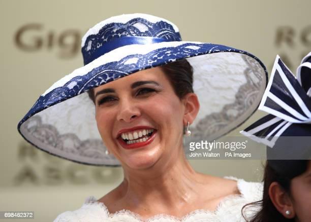 Princess Haya bint Al Hussein of Jordan during day one of Royal Ascot at Ascot Racecourse