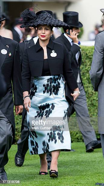 Princess Haya Bint Al Hussein on day 1 of Royal Ascot at Ascot Racecourse on June 16 2015 in Ascot England