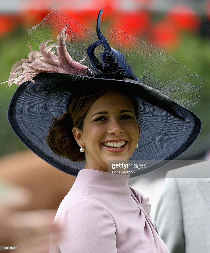 Princess Haya Bint Al Hussein smiles in the parade ring on day four of Royal Ascot 2009 at Ascot Racecourse on June 19, 2009 in Ascot, England.