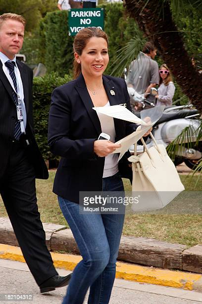 Princess Haya of Dubai attends the 'CSIO Barcelona 2013 102nd International Show Jumping' on September 28 2013 in Barcelona Spain
