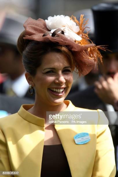 Princess Haya of Jordan on day five of The Royal Ascot meeting at Ascot Racecourse Berkshire