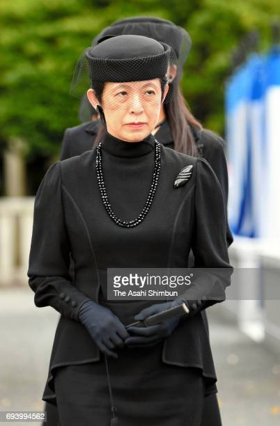 Princess Hisako of Takamado attends the memorial ceremony to commemorate the third anniversary of the death of Prince Katsura at Toshimagaoka...