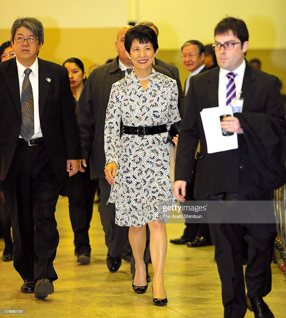 Princess Hisako of Takamado is seen upon arrival at Ezeiza Airport on September 4, 2013 in Buenos Aires, Argentina. The princess will attend the IOC Congress on September 7, when the host city of the 2020 Summer Olympic will be decided.