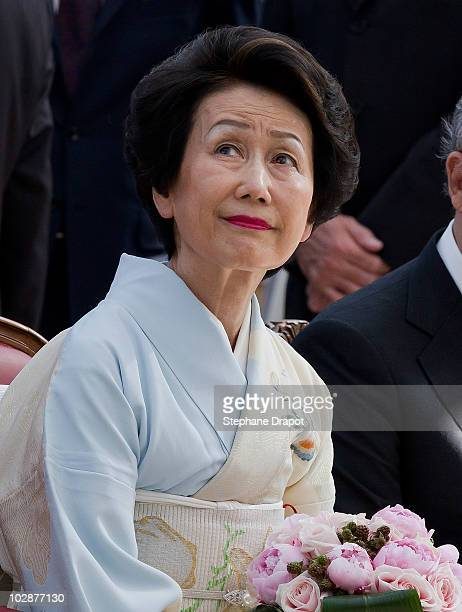 Princess Hitachi of Japan attends the opening ceremony of the art exhibition KyotoTokyo at Grimaldi Forum on July 13 2010 in Monaco Monaco
