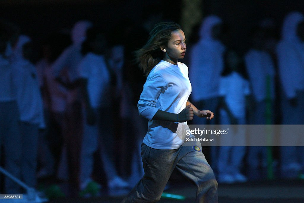Princess Iman bint Al Abdullah of Jordan performs during the distribution of The King Abdullah Award for Fitness ceremony on May 31, 2009 in Amman, Jordan.