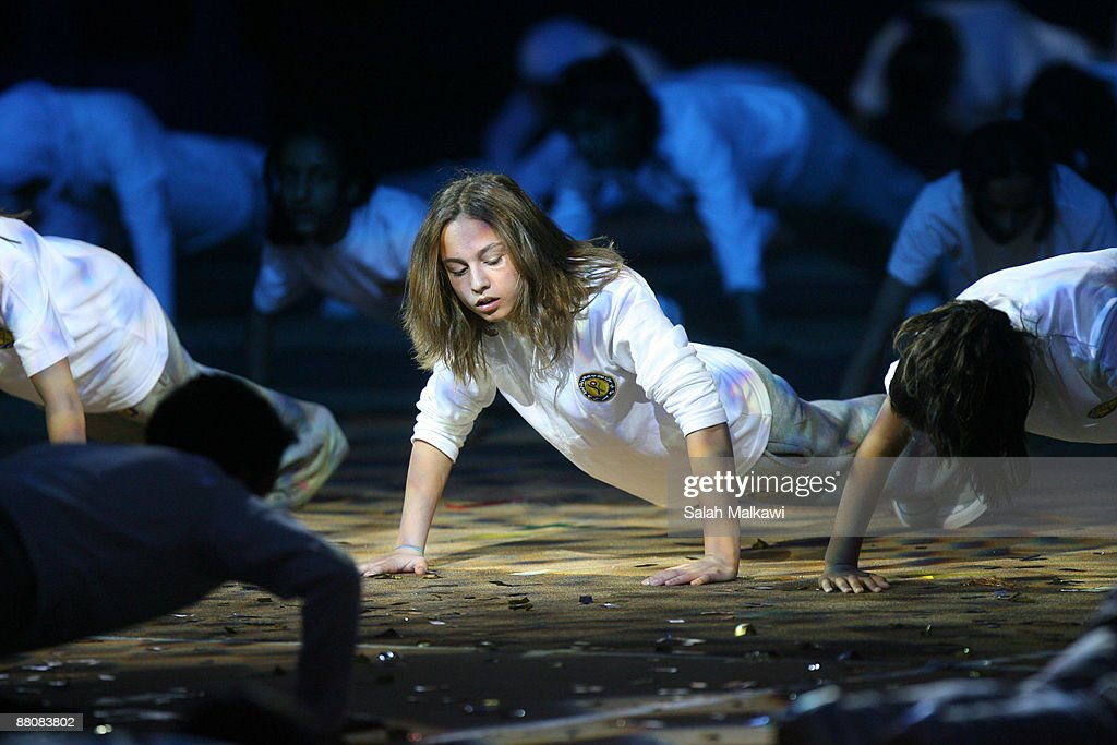 Princess Iman bint Al Abdullah performs during The King Abdullah Award for Fitness ceremony on May 31, 2009 in Amman, Jordan.