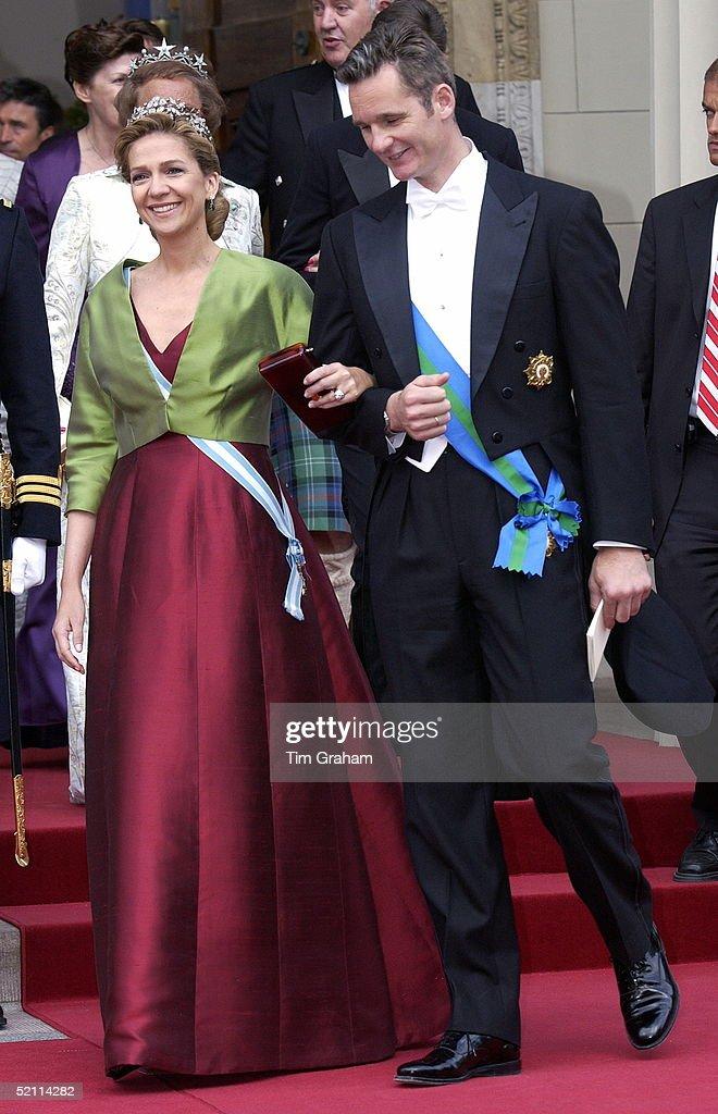 Princess Infanta Cristina Of Spain And Husband Inaki (the Duke And Duchess Of Palma De Mallorca) (majorca) At The Wedding Of The Crown Prince Of Denmark