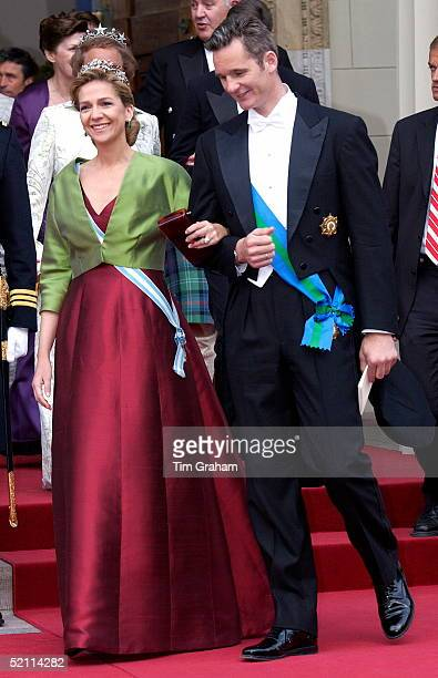Princess Infanta Cristina Of Spain And Husband Inaki At The Wedding Of The Crown Prince Of Denmark