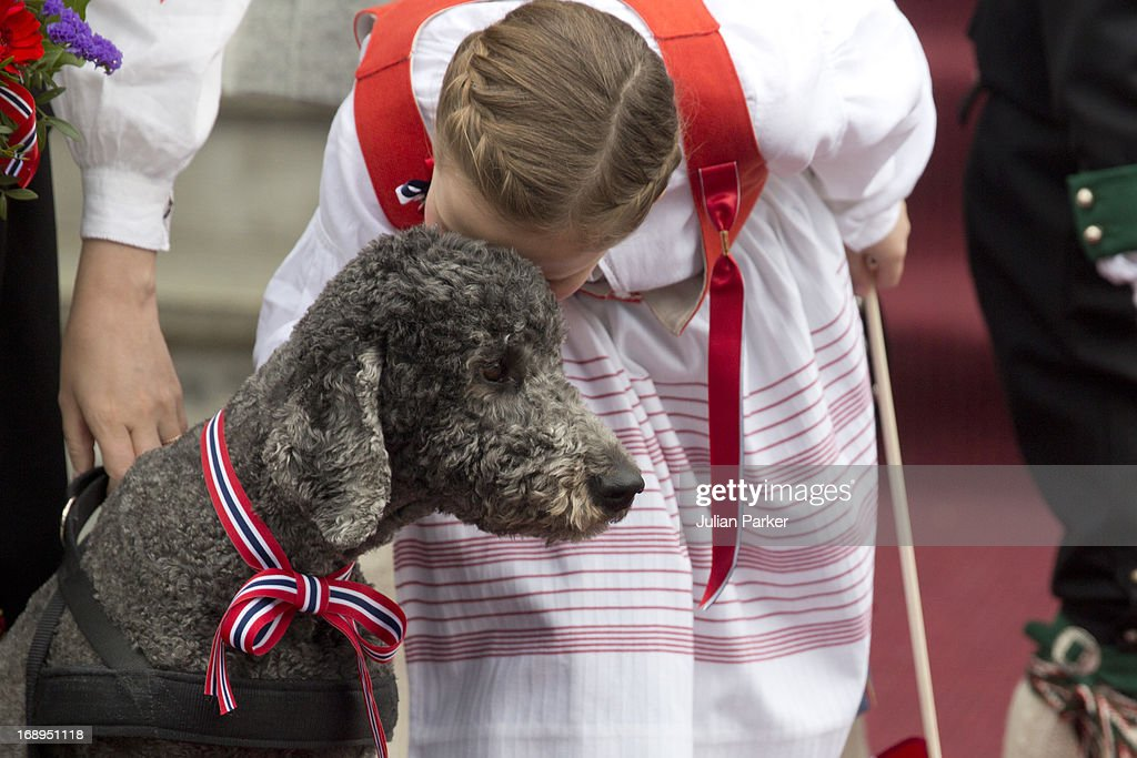 Princess Ingrid Alexandra of Norway, and Family Dog, Milly Kakao celebrate Norway National Day at The Crown Prince couples residence, Skaugum, in Asker, near Oslo on May 17, 2013 in Asker, Norway.