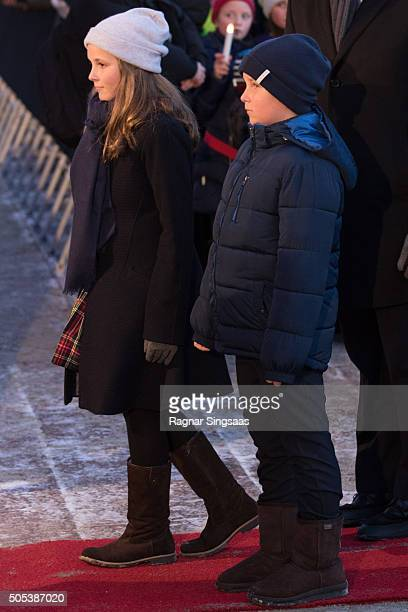 Princess Ingrid Alexandra of Norway and Prince Sverre Magnus of Norway attend the 25th anniversary of King Harald V and Queen Sonja of Norway as...