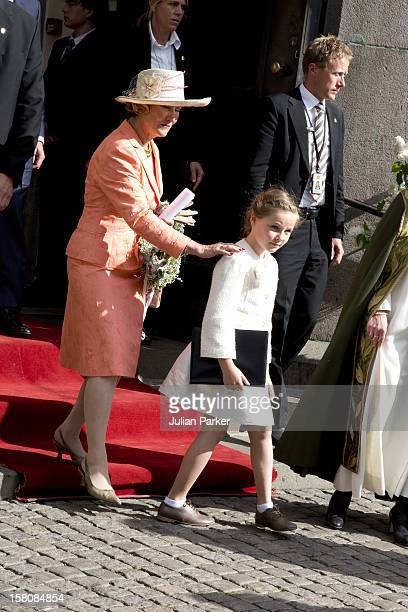 Princess Ingrid Alexandra With Queen Sonja Of Norway Attend A Service At Oslo Cathedral To Celebrate The 75Th Birthday Year Of The King Queen Of...
