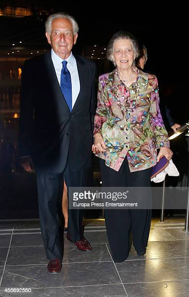 Princess Irene of Greece attends the Golden Wedding Anniversary of King Constantine II and Queen Anne Marie of Greece at Acropolis Museum on...