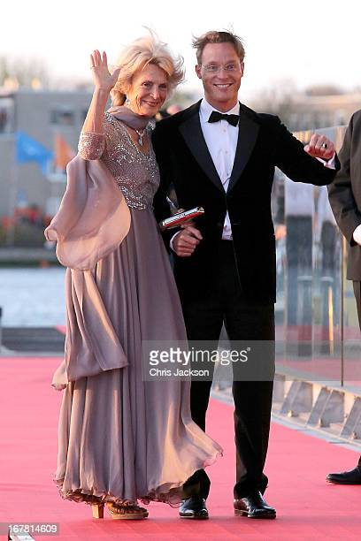 Princess Irene of the Netherlands and Prince Jaime Bernardo Count of Bardi arrive at the Muziekbouw following the water pageant after the abdication...
